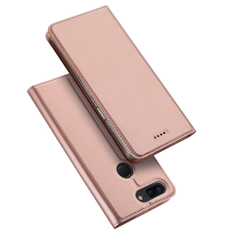 DUX Peňaženkový obal OnePlus 5T ružový