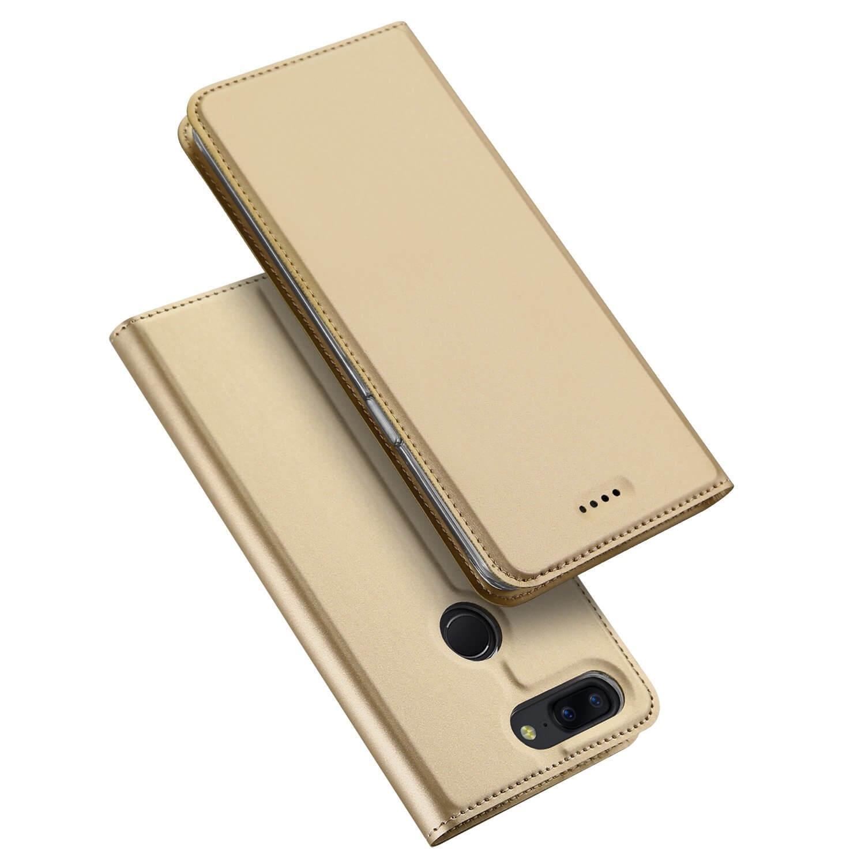 DUX Peňaženkový obal OnePlus 5T zlatý