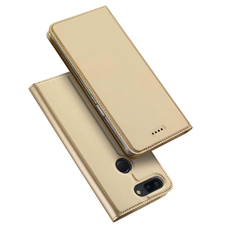 DUX Peňaženkový obal OnePlus 5 zlatý