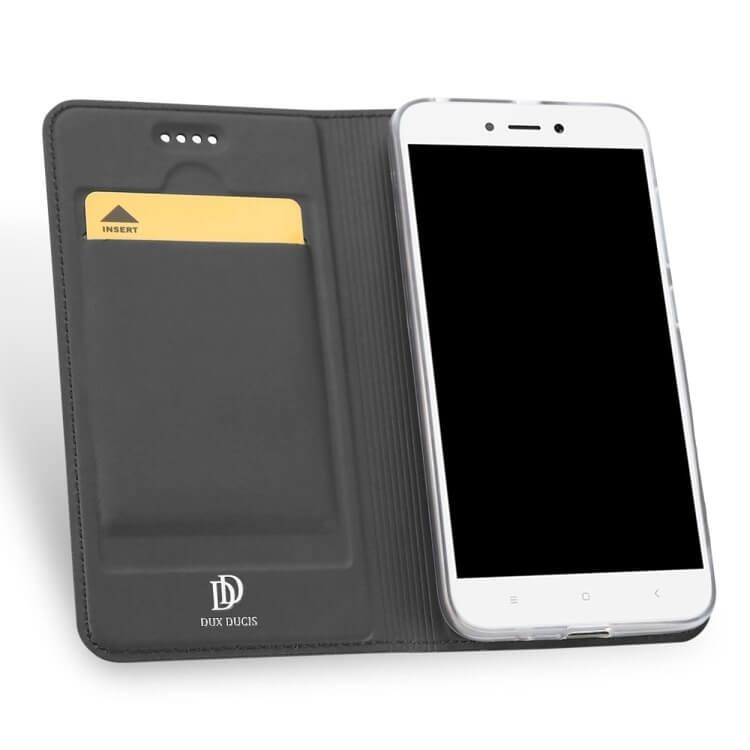 DUX Peňaženkový obal Xiaomi Redmi 5A šedý