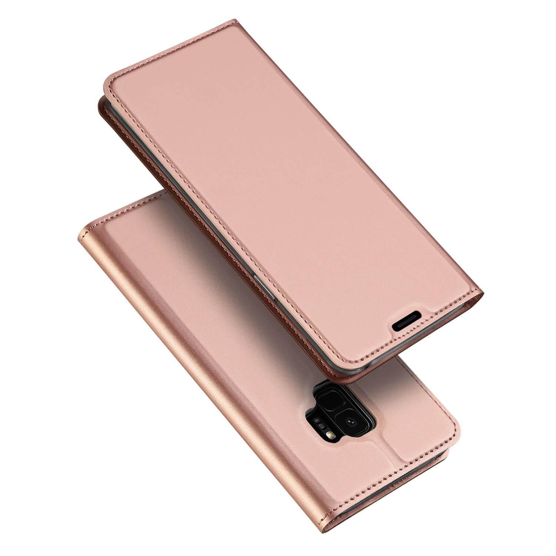DUX Peňaženkový obal Samsung Galaxy S9 ružový
