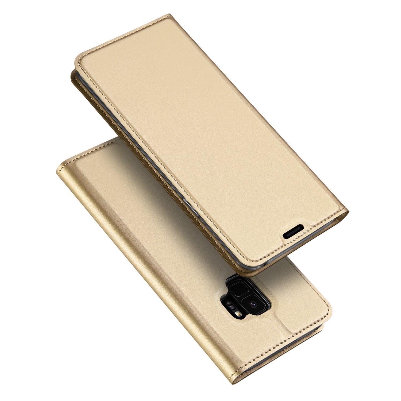 DUX Peňaženkový obal Samsung Galaxy S9 zlatý
