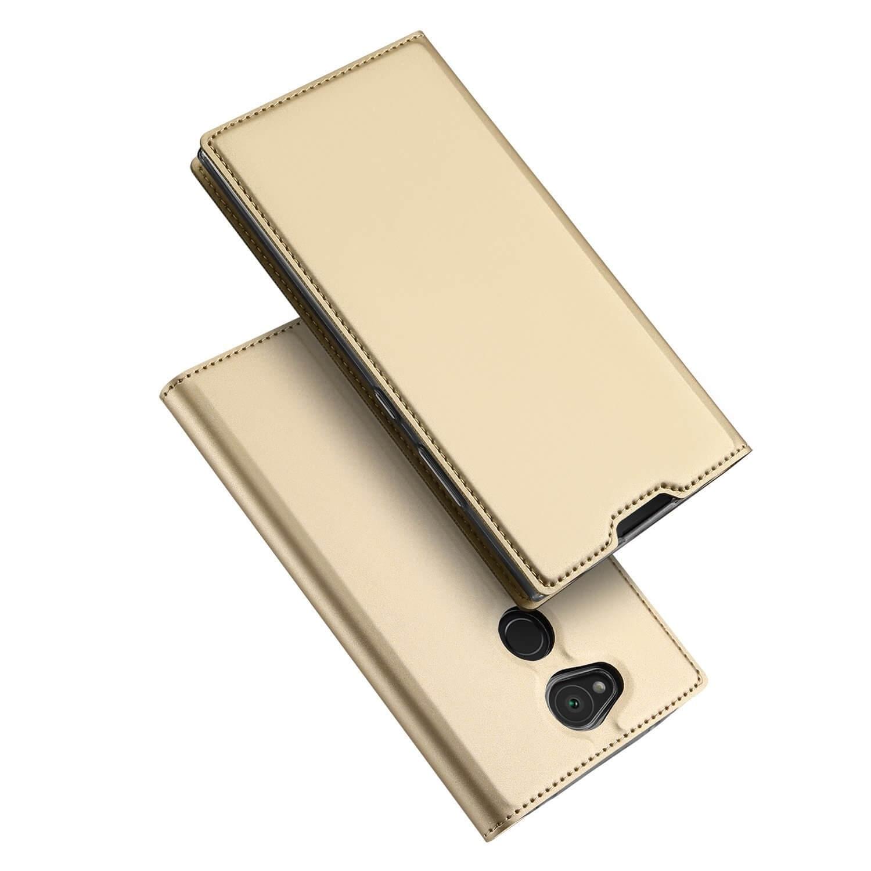 DUX Peňaženkový obal Sony Xperia L2 zlatý
