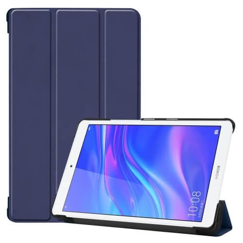 "FORCELL LEATHER zaklapovací obal Huawei MediaPad M5 Lite 8.0 ""modrý"