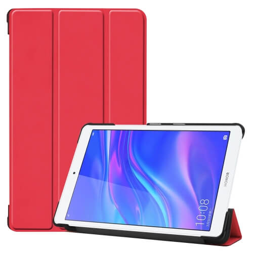 """FORCELL LEATHER zaklapovací obal Huawei MediaPad M5 Lite 8.0 """"červený"""
