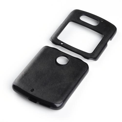 FORCELL LEATHER TPU Ochranný kryt Motorola Razr 5G čierny