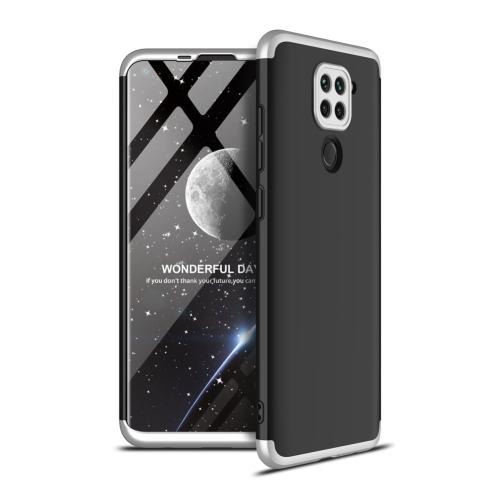 FORCELL 360° Ochranný kryt Xiaomi Redmi Note 9 černý-stříbrný