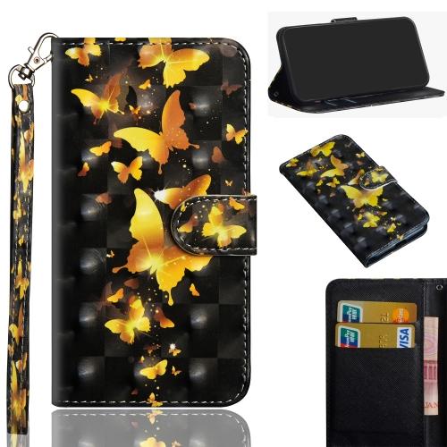 FORCELL ART Peňaženkový obal Motorola Moto E6 Plus GOLDEN BUTTERFLY