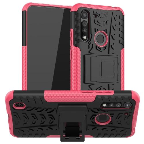 Levně FORCELL STAND Extra odolný obal Motorola Moto G8 Power Lite růžový