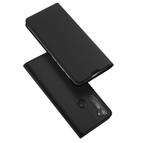 DUX Peňaženkový kryt Motorola One Fusion + černý