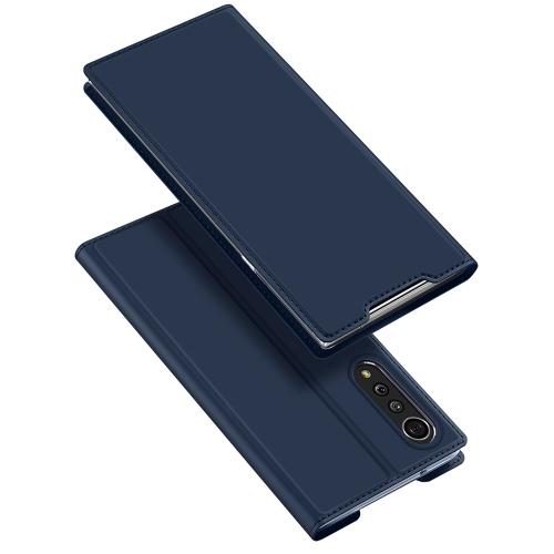 DUX Peňaženkový kryt LG Velvet modrý