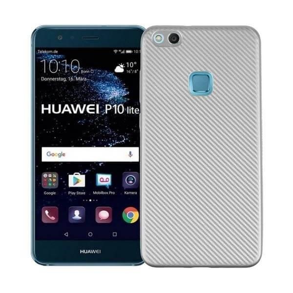 FORCELL FIBER Ochranný obal Huawei P10 Lite stříbrný