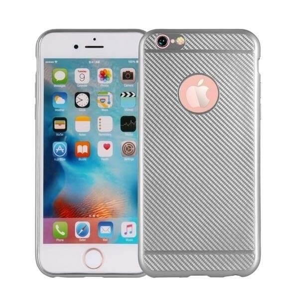 FIBER Ochranný obal Apple iPhone 8 Plus stříbrný