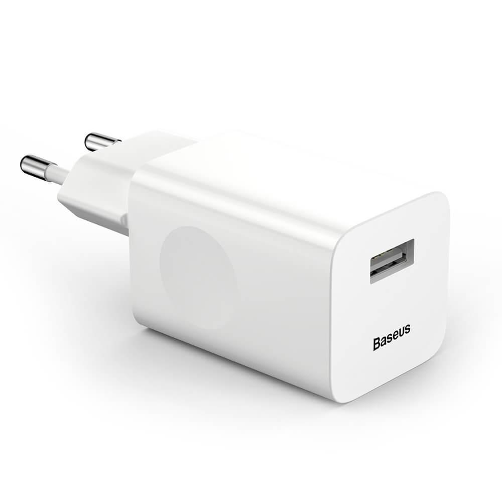 BASEUS Síťová nabíječka QuickCharge 3.0 bílá