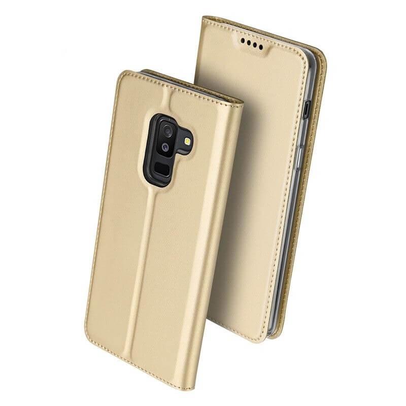 DUX Peňaženkový obal Samsung Galaxy A6 Plus (A605) zlatý b60ed86b6ab