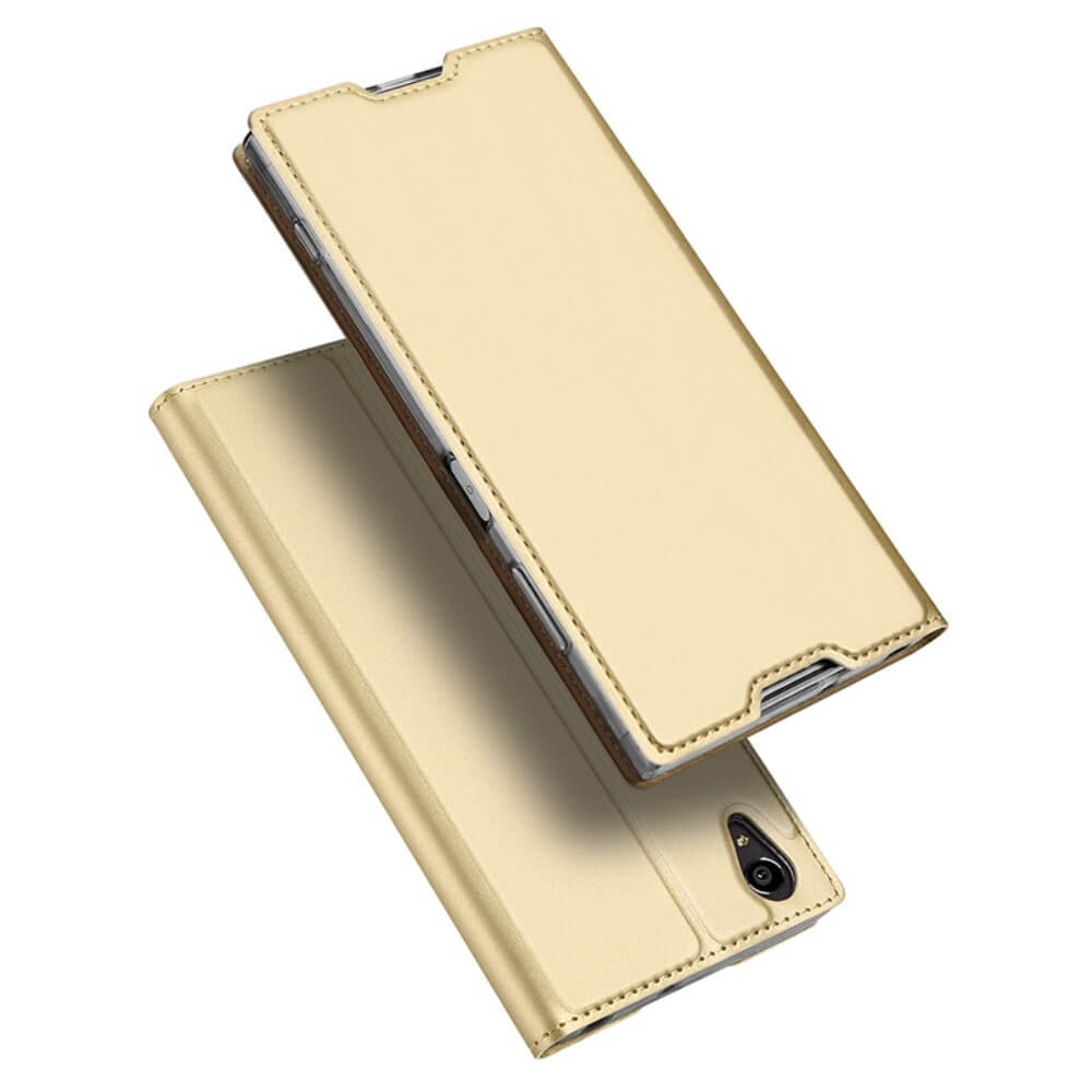 DUX Flipové púzdro Sony Xperia XA1 Plus zlaté