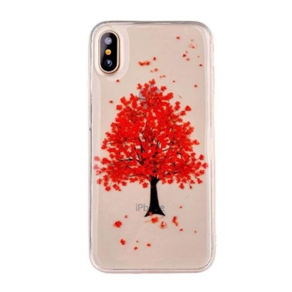 FORCELL 3D FLOWER Silikónový obal Apple iPhone X / XS (10)