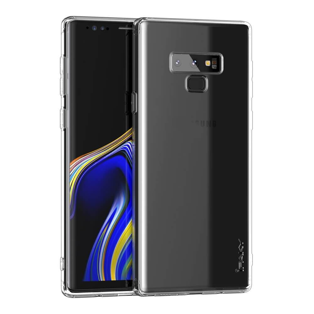 IPAKY SET Silikonový Kryt + ochranná fólie Samsung Galaxy Note 9 průhledný