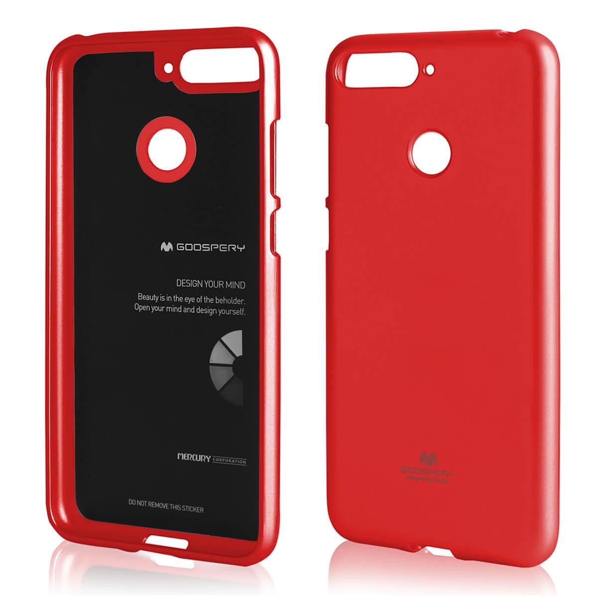 MERCURY JELLY TPU obal Huawei Y6 Prime 2018 červený