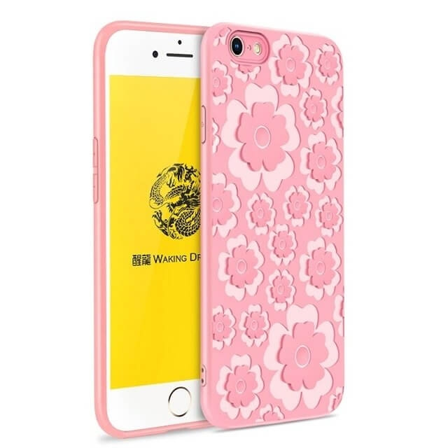 FORCELL MSVII FLOWER TPU obal Apple iPhone 7   iPhone 8 růžový 0d5ddccad04