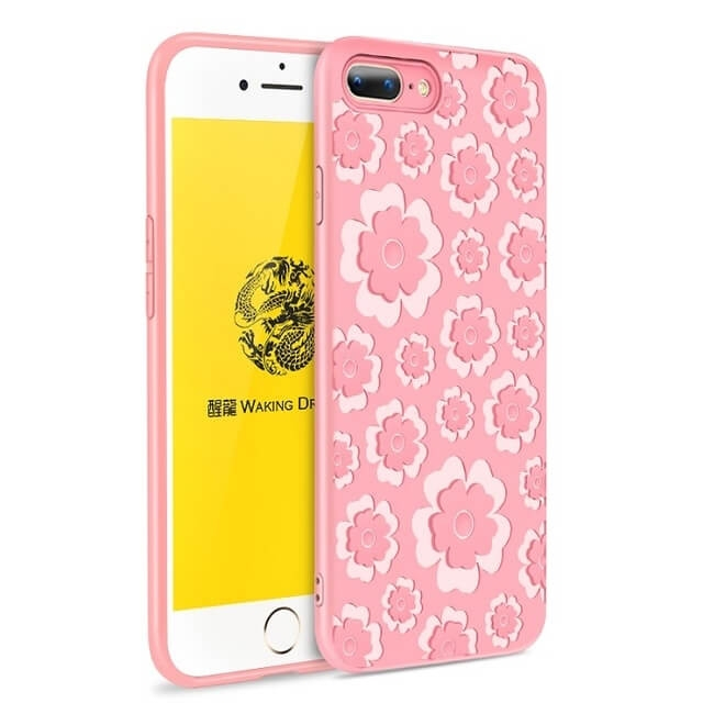 FORCELL MSVII FLOWER TPU obal Apple iPhone 7 Plus   iPhone 8 Plus ružový e6a76720fb5