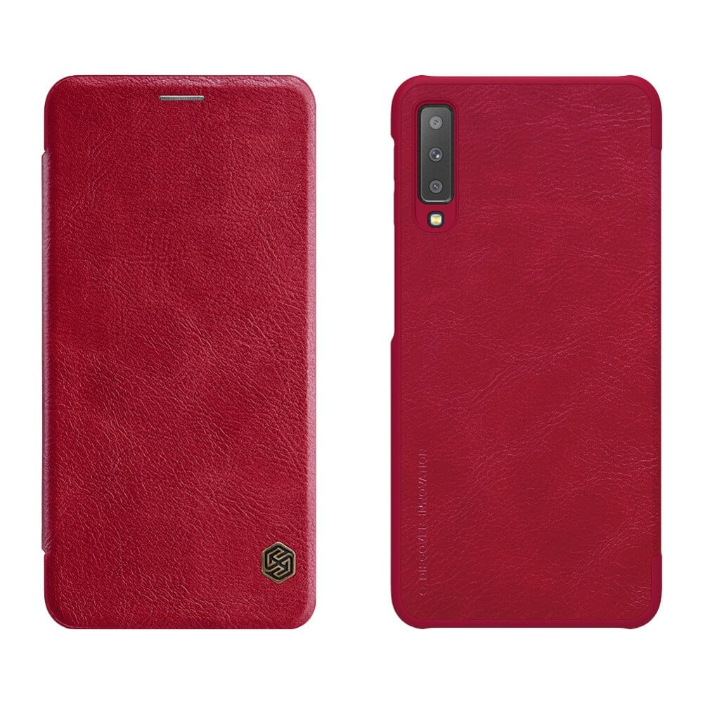 NILLKIN QIN LEATHER Samsung Galaxy A7 2018 (A750) červený
