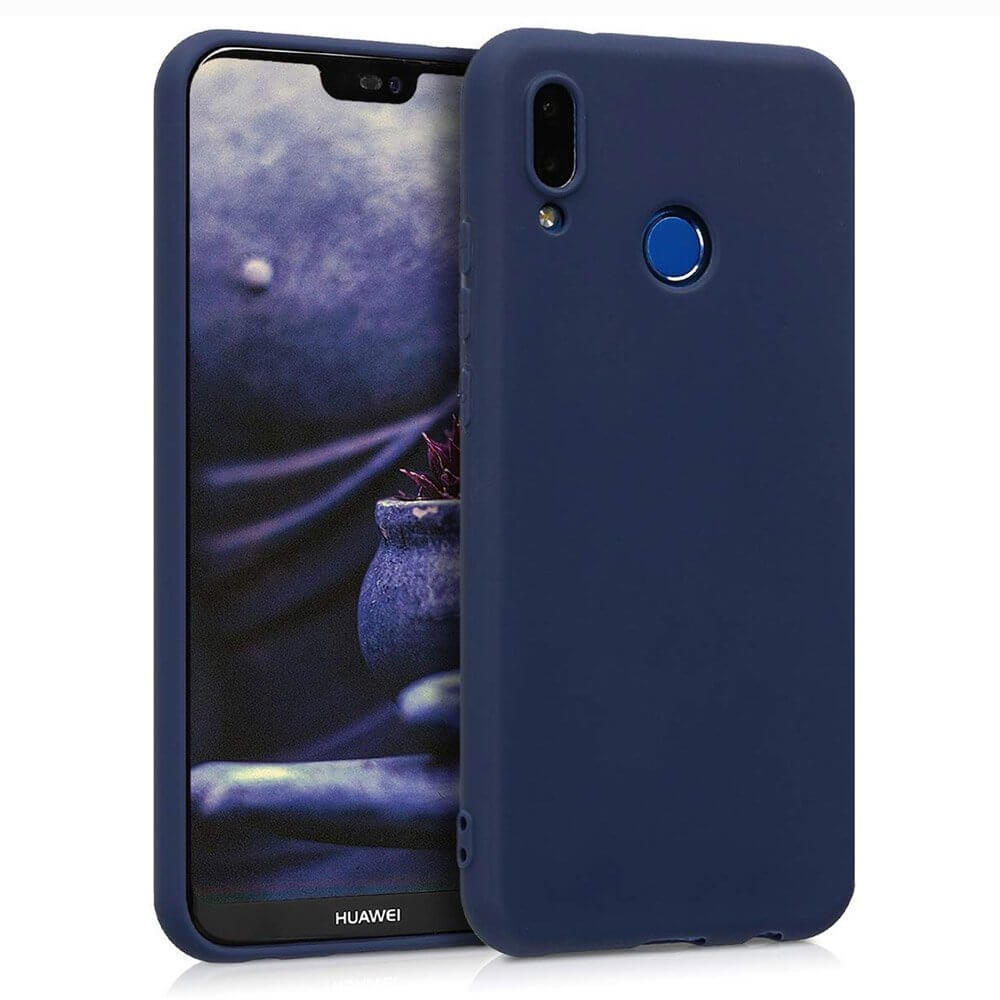 FORCELL RUBBER Gumový obal Huawei P20 Lite modrý