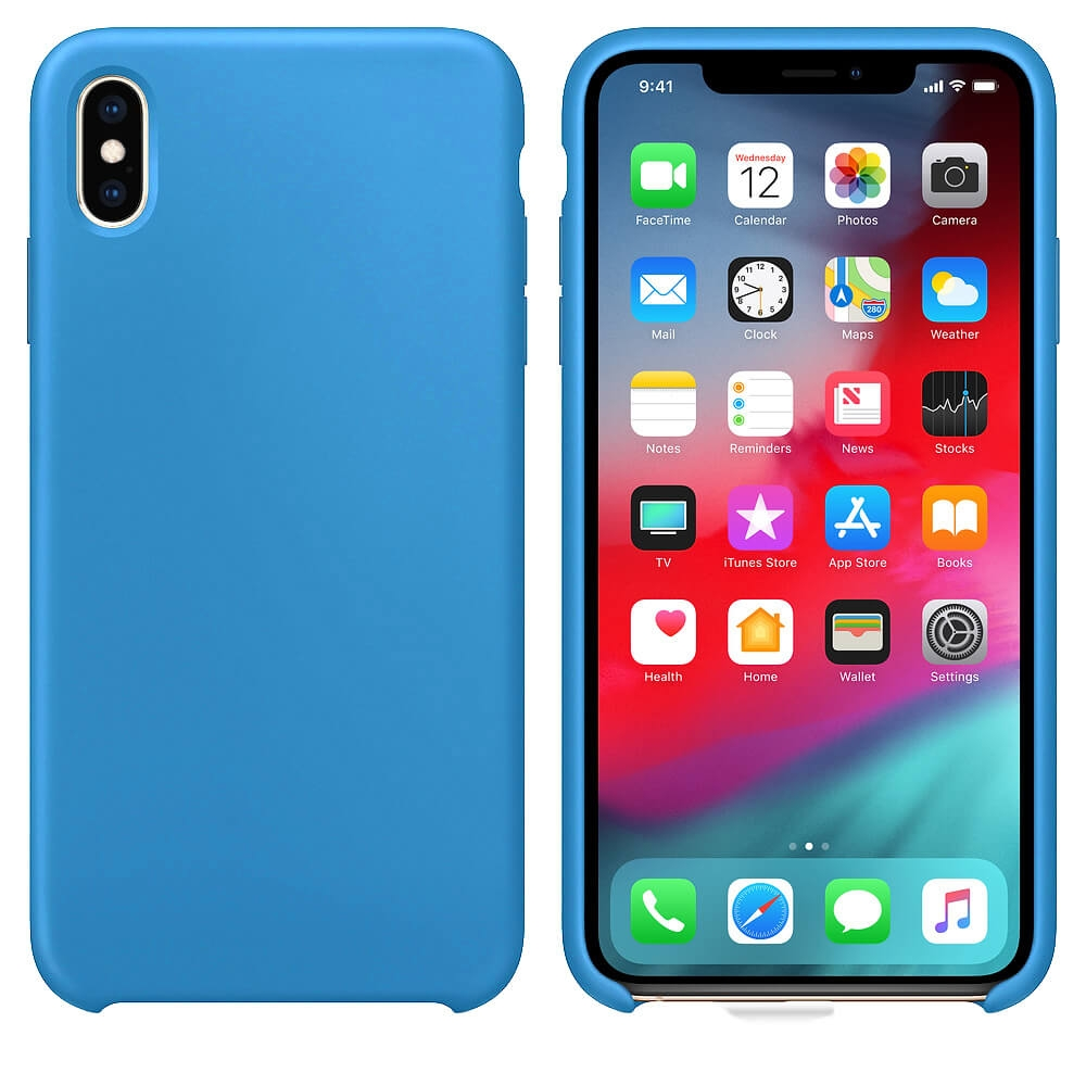 FORCELL RUBBER Silikonový obal Apple iPhone XS Max modrý (light) 057a10e7b26