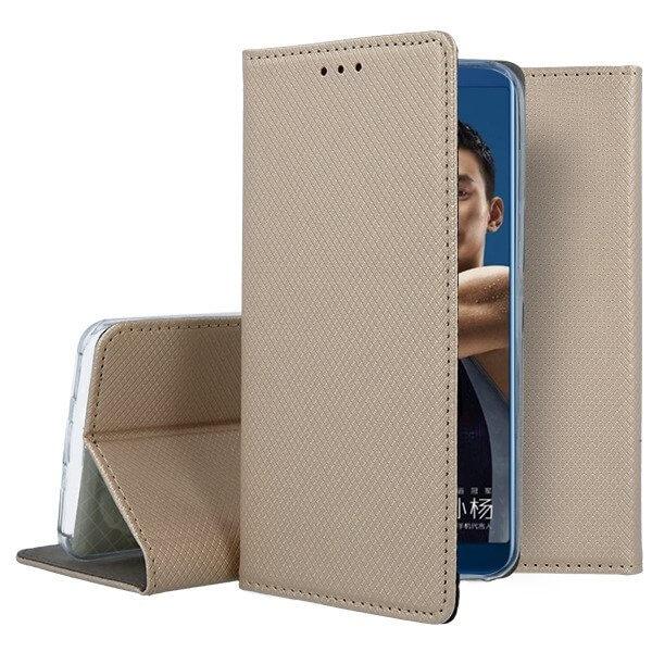 FORCELL MAGNET Peňaženkový obal Huawei Y6 2018 zlatý