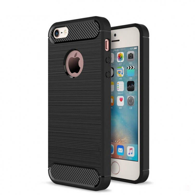 FORCELL FLEXI TPU obal Apple Iphone 5 / 5S / SE černý