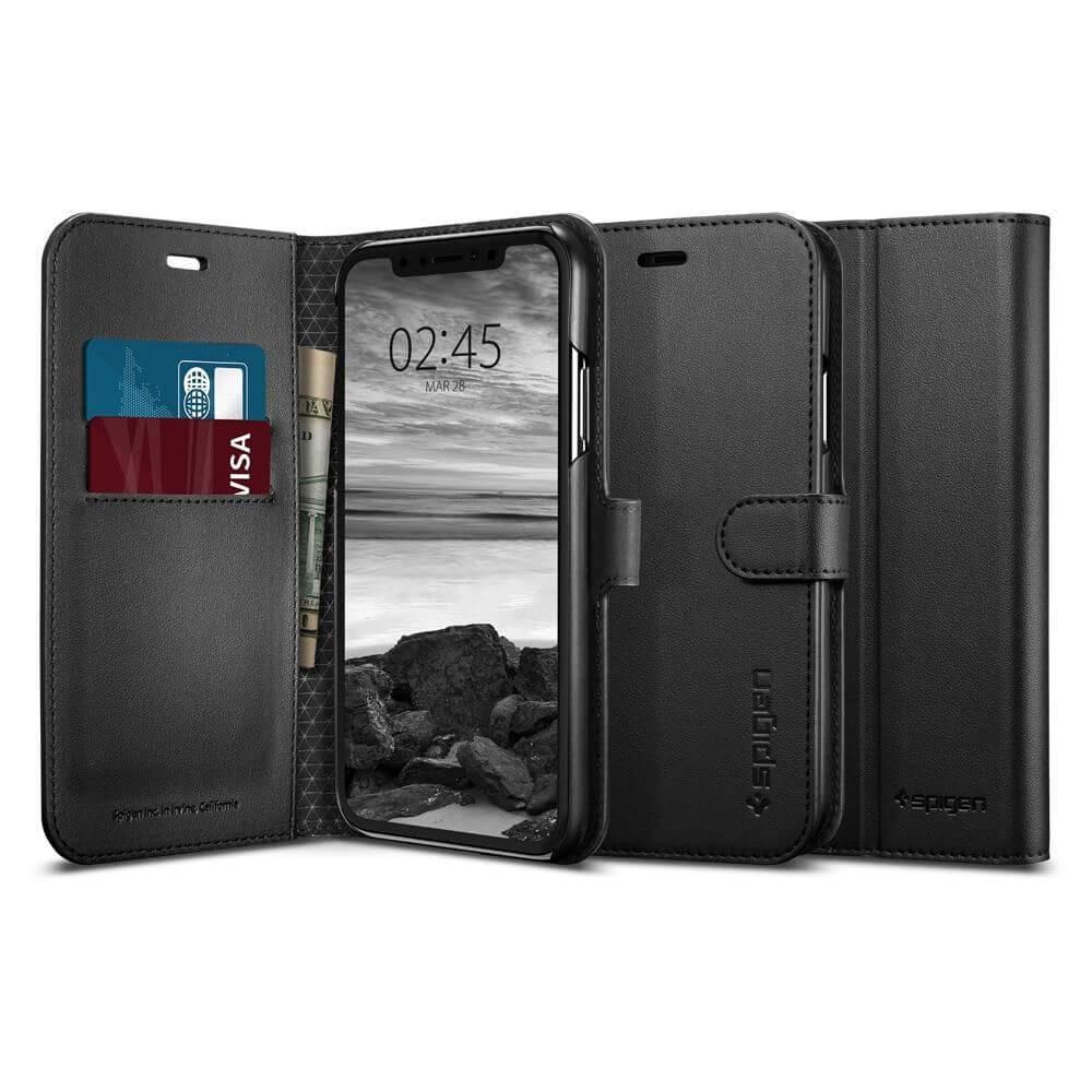 SPIGEN WALLET S Knížkové pouzdro Apple iPhone XR černé 9304d90338c