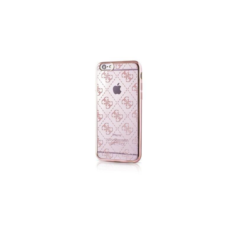 GUESS Silikónový obal Apple iPhone 6 / 6S ružový