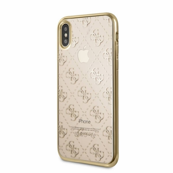 FORCELL GUESS (GUHCPXTR4GG) Silikonový obal Apple iPhone X   XS zlatý 39dcee233df