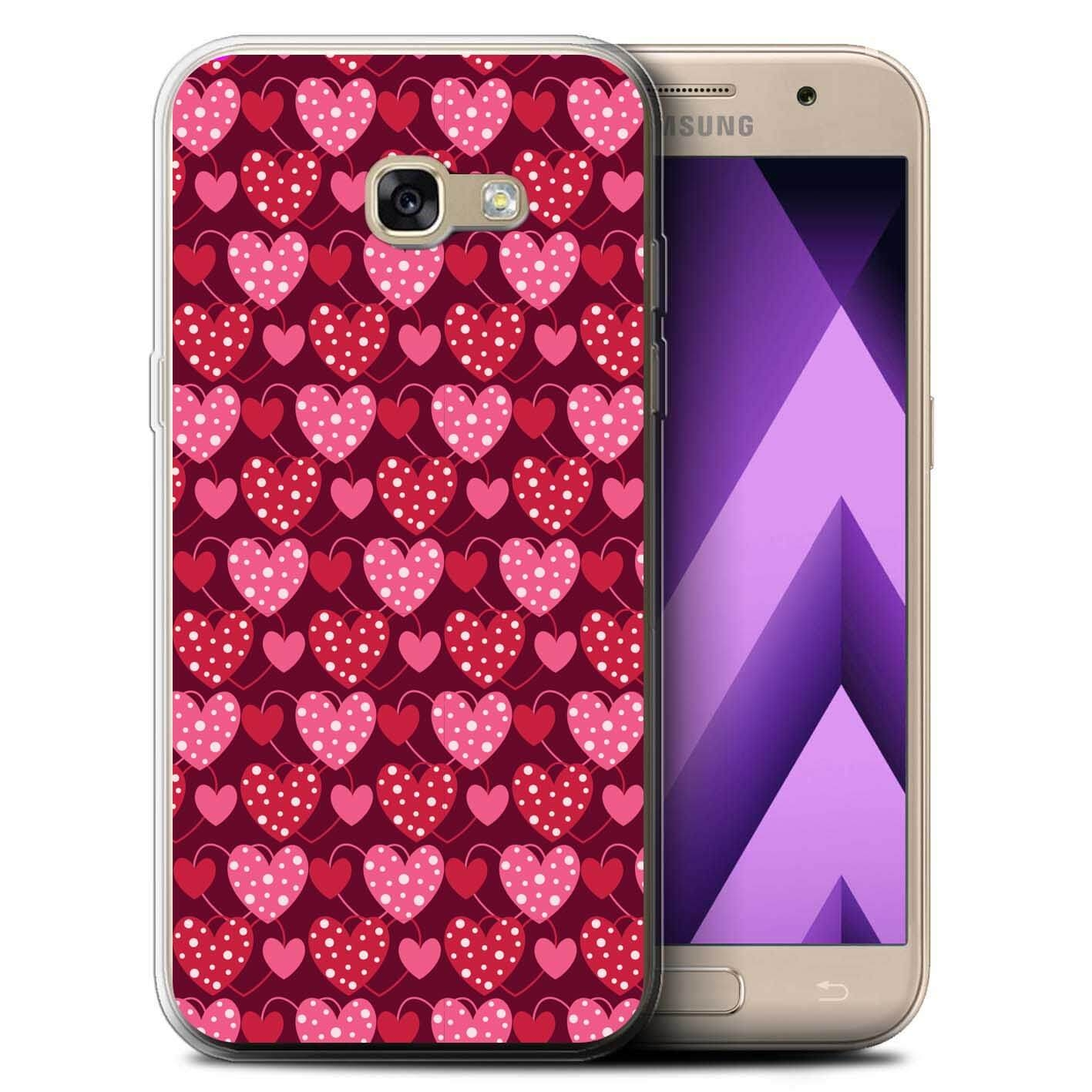FORCELL MY ART kryt Samsung Galaxy A3 2017 (A320) RED HEARTS (027)
