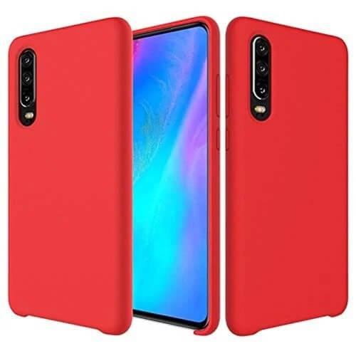 FORCELL RUBBER Silikonový obal Huawei P30 červený