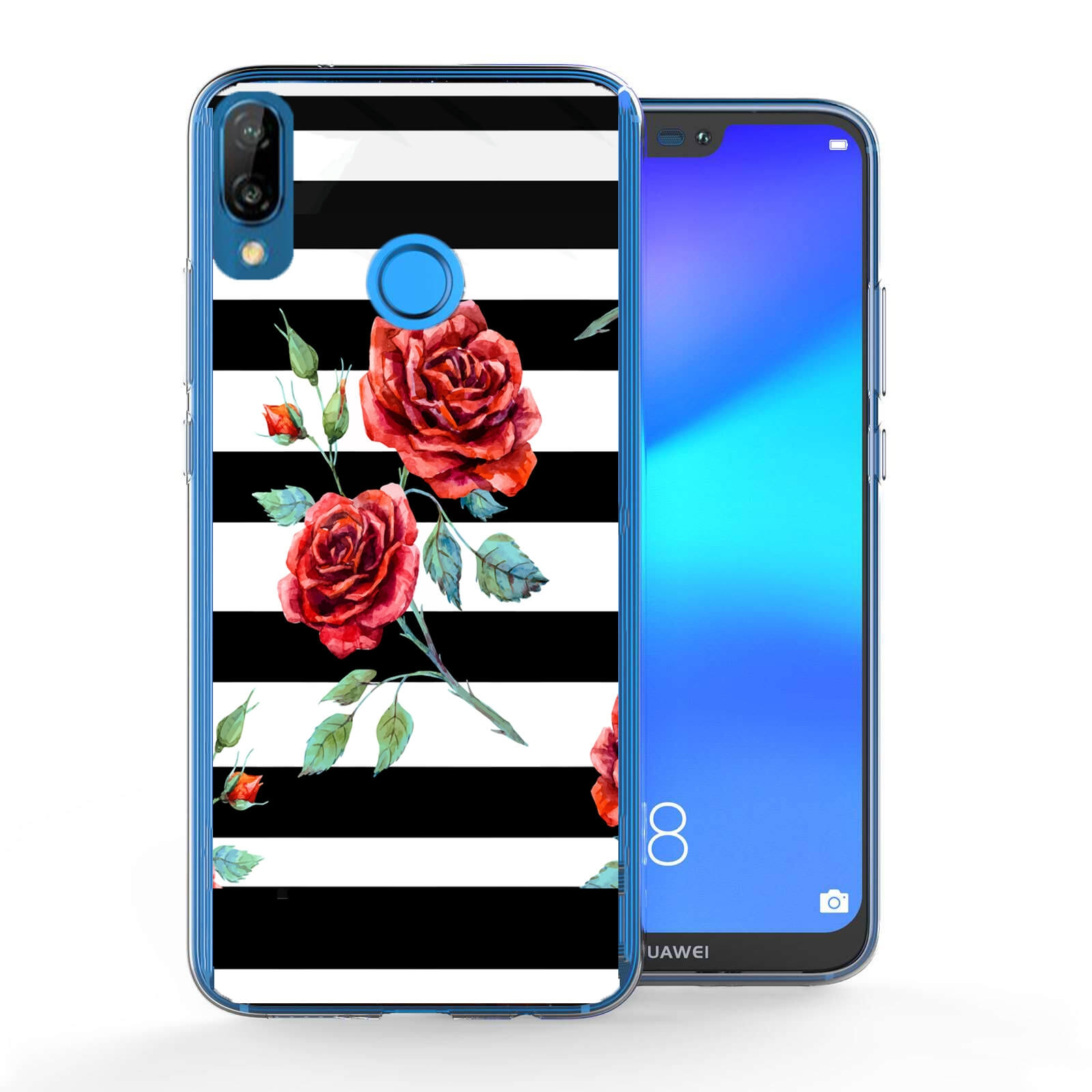 FORCELL MY ART obal Huawei P20 Lite BLACK WHITE (034)