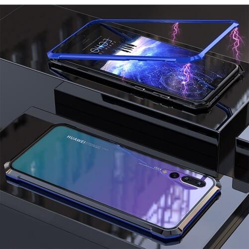FORCELL Ochranný magnetický obal Huawei P20 Pro modrý (černý)