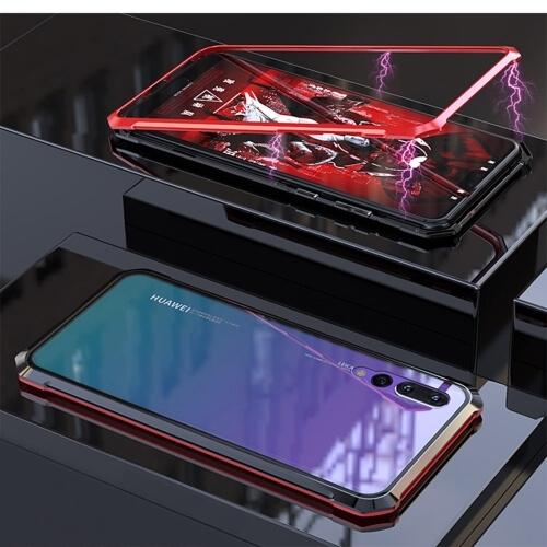 FORCELL Ochranný magnetický obal Huawei P20 Pro červený (černý)