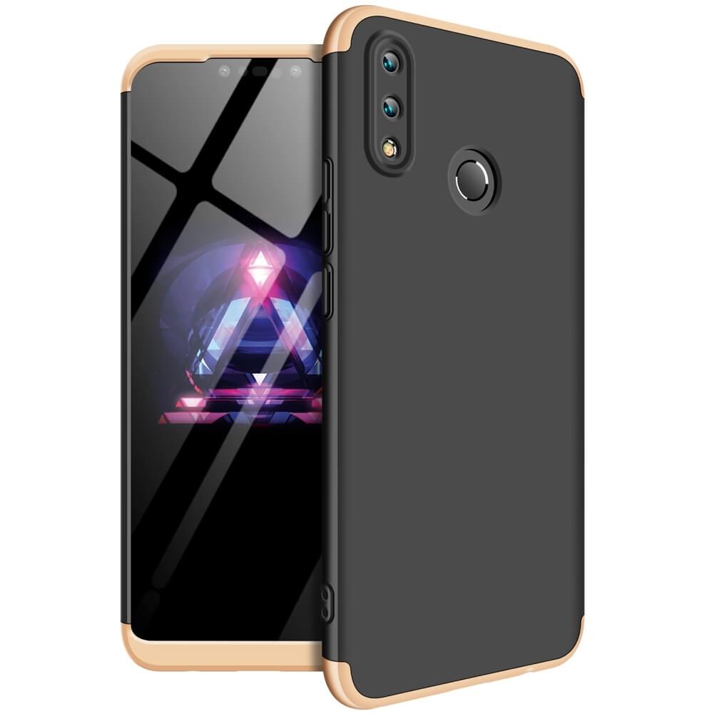 FORCELL 360 ° Ochranný obal Huawei Nova 3i černý (zlatý)