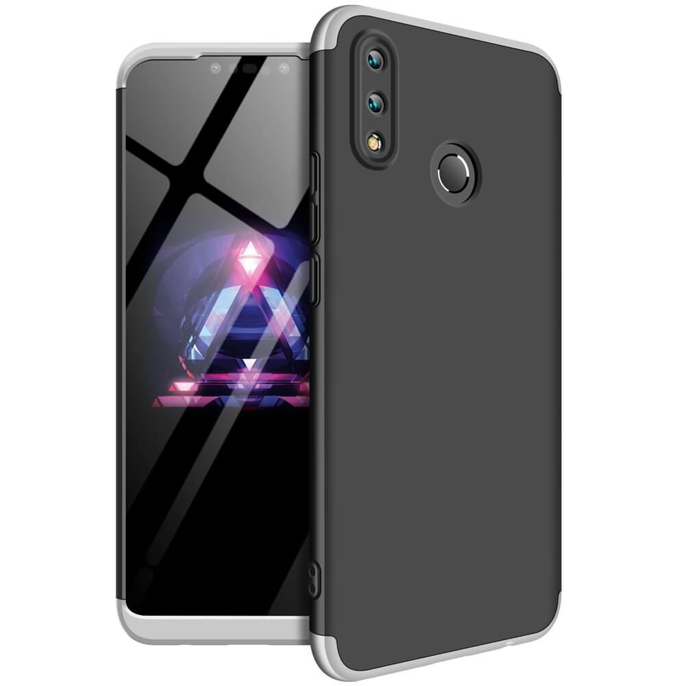 FORCELL 360 ° Ochranný obal Huawei Nova 3i černý (stříbrný)