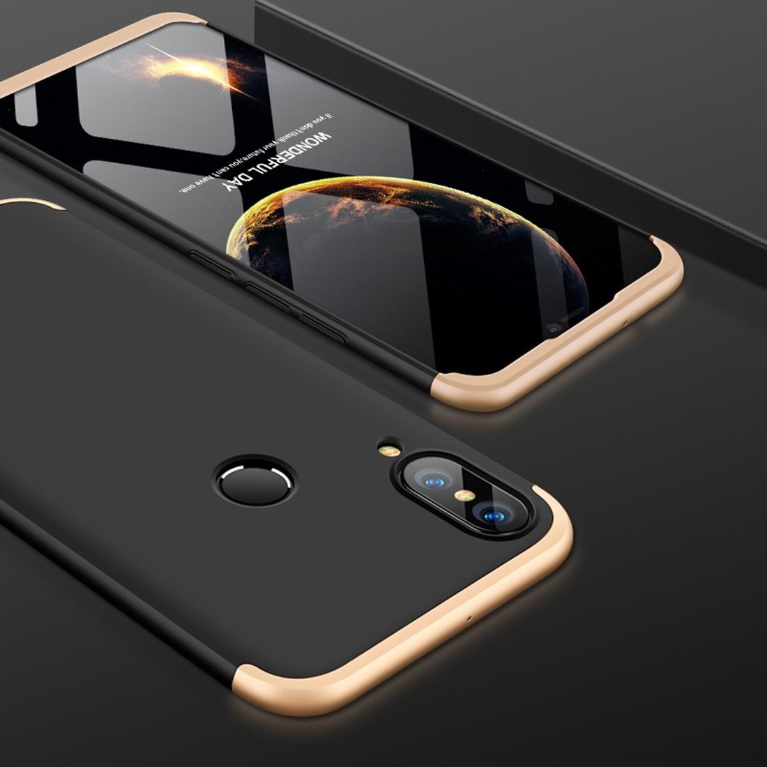 FORCELL 360 ° Ochranný obal Huawei Nova 3 černý (zlatý)