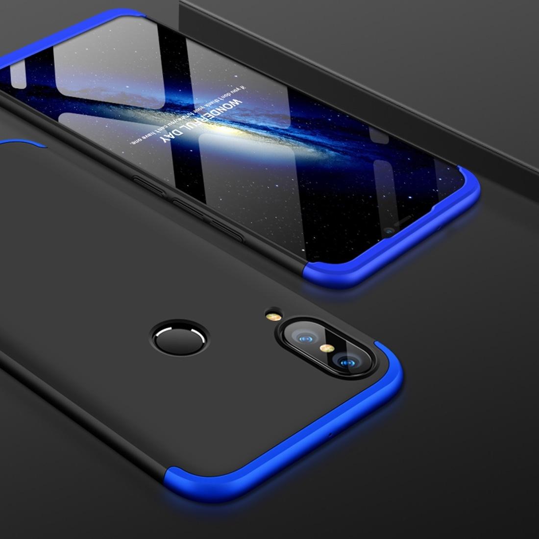 FORCELL 360 ° Ochranný obal Huawei Nova 3 černý (modrý)