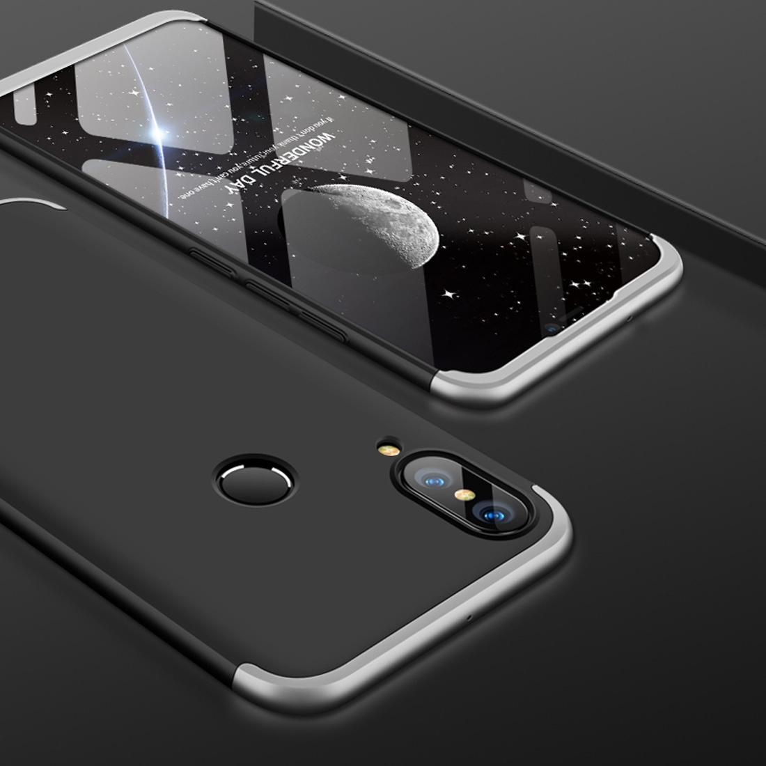 FORCELL 360 ° Ochranný obal Huawei Nova 3 černý (stříbrný)