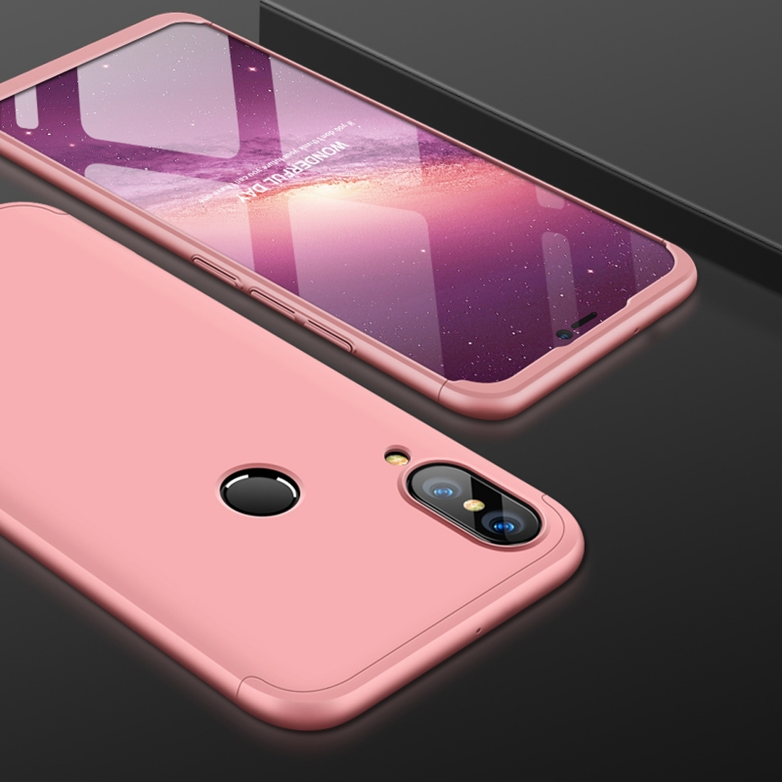 FORCELL 360 ° Ochranný obal Huawei Nova 3 růžový