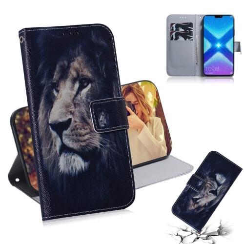 FORCELL ART Peňaženkový obal Honor 8X LION