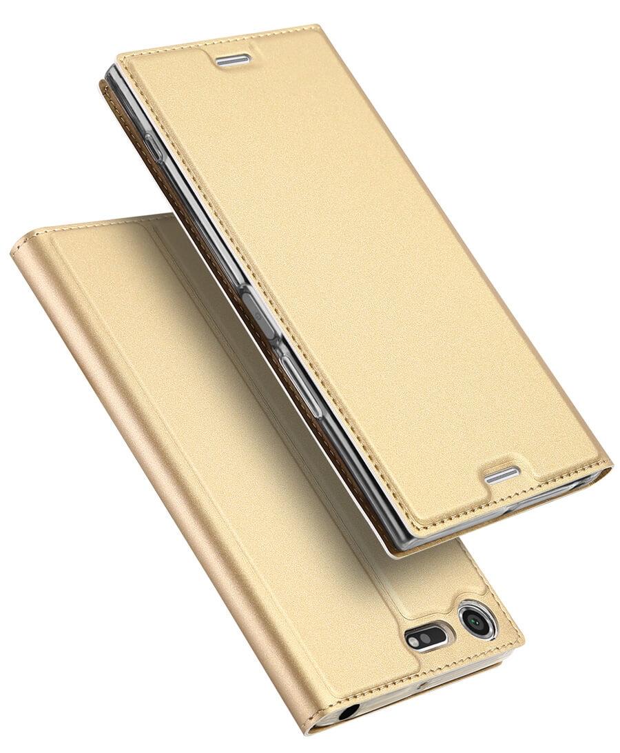 DUX Flipové púzdro Sony Xperia XZ / XZS zlaté