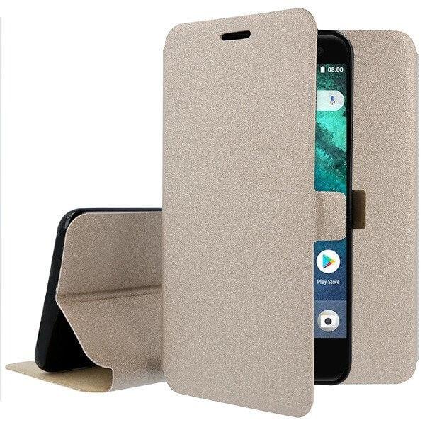 FORCELL SMOOTH Peňaženkový obal HTC U11 Life zlatý