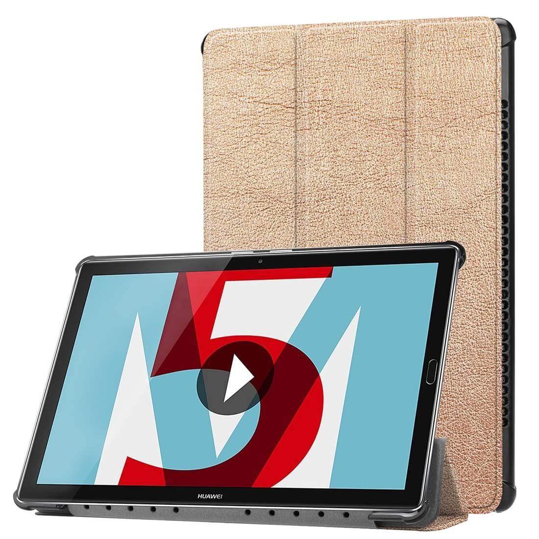 """FORCELL Zaklapovací obal Huawei MediaPad M5 10.8 """"/ M5 10.8"""" Pro zlatý"""