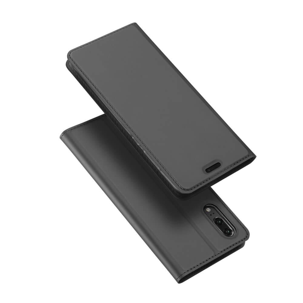 DUX Peňaženkové pouzdro Huawei P20 šedé