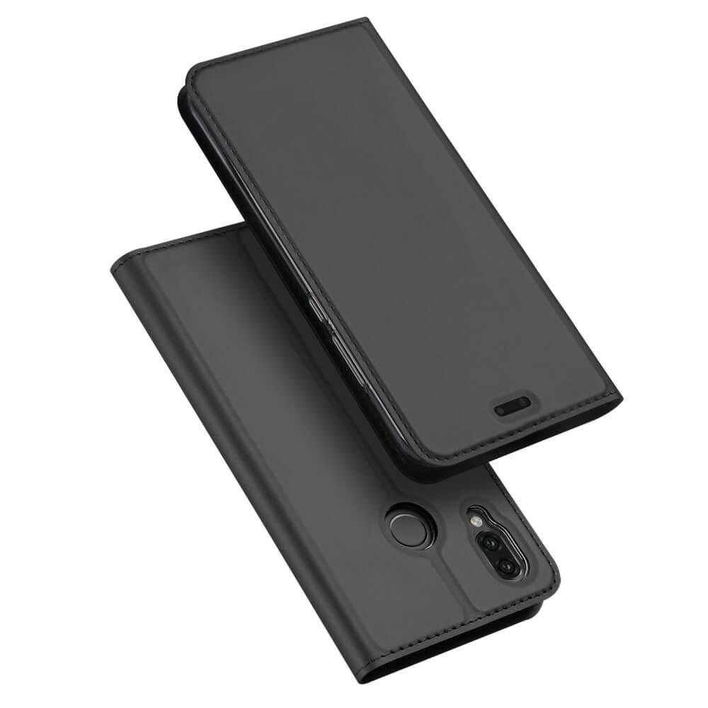 DUX Peňaženkové pouzdro Huawei P20 Lite šedé